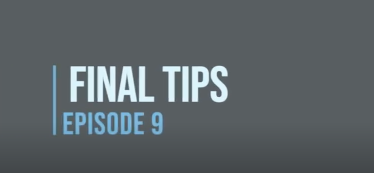 Personal Statement Series (Episode 9) - Final Tips to Ace your Application